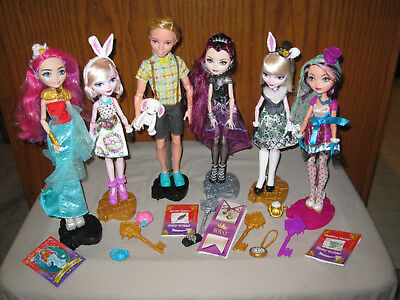 Ever After High Loose 6 Dolls Meeshell Mermaid Date Bunny Alistair Raven Maddie