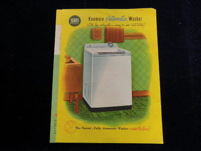 Vintage Sears Kenmore Automatic Clothes Washer Brochure Q240
