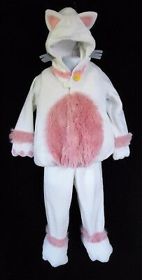 Old Navy 2T 3T Kitty Cat Halloween Costume Toddler Fleece Two Piece White