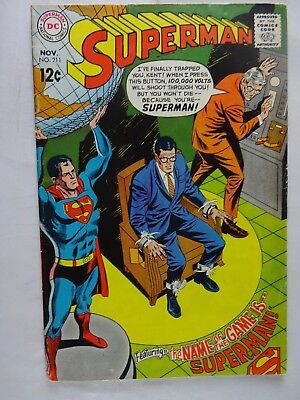 Superman #211   Clark Kent   The Name of the Game is Superman   Curt Swan
