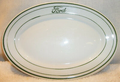 1940s Ford Script Cafeteria Small Oval Platter Sandwich Plate 1932 1933 1934