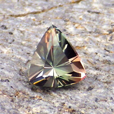 PEACOCK GREEN-BLUE-PEACH DICHROIC OREGON SUNSTONE 1.34Ct FLAWLESS-FOR TOP JEWELR