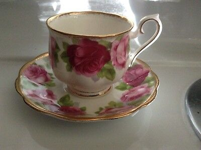 Beautiful bone china Old English Rose Royal Albert cup and saucer