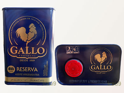 Portuguese Can Extra Virgin Olive Reserve Oil 500ml - Since 1919 Gallo