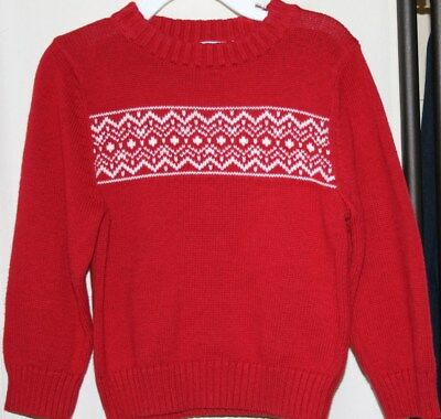 TODDLER FAIR ISLE SWEATER - SONOMA - COTTON - NORDIC - Red - 3T - Clearance!
