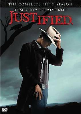 Justified: The Complete Fifth Season 5 Five (DVD, 2014, 3-Disc Set) - NEW!!