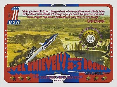 Piece of EVEL KNIEVEL'S original X-2 ROCKET SKYCYCLE part, fragment Snake River