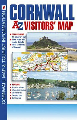 Cornwall Visitors Map (A-Z Visitors... by Geographers A-Z Map  Sheet map, folded
