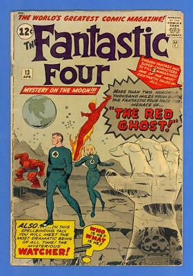 Fantastic Four #13 – Marvel (1963) – 1St Appearance Of The Watcher & Red Ghost!