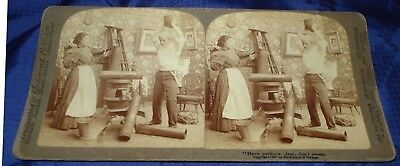 BG151 Vtg Stereoview Photo Have Patience Dear Don't Swear