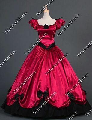 Southern Belle Victorian Gothic Vampire Dress Theater Halloween Costume 323 XXL