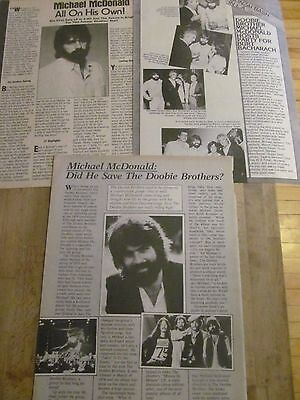 Michael McDonald, The Doobie Brothers, Lot of THREE Full Page Vintage Clippings