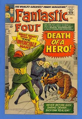 Fantastic Four #32 – Marvel (1964) – Kirby Cover & Art – Invincible Man!
