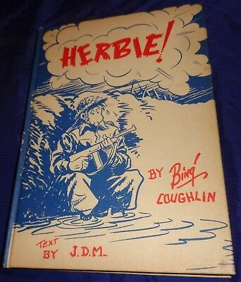 BG490 Vtg WW2 Hardcover Book Herbie By Bing Coughlin 1959 Edition