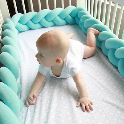 Baby Creep Bumpers Safety Rail Protector New Soft Guardrail Bed Crib Collision