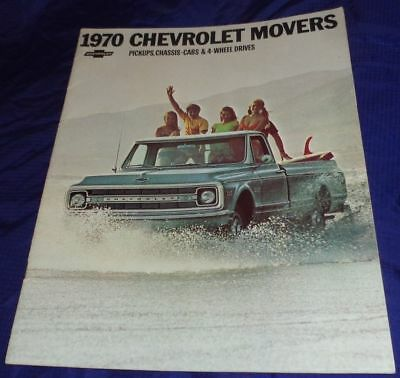 BG593 1970 70 Chevrolet Pickup Chassis-Cab 4 WD Dealer Sales Brochure