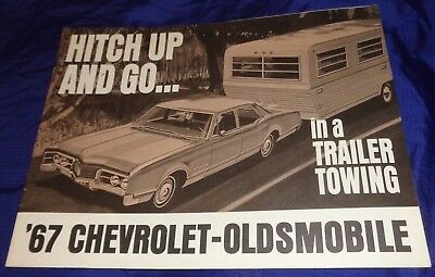 BG594 1967 67 Chevrolet Oldsmobile Rare Trailer Towing Dealer Sales Brochure
