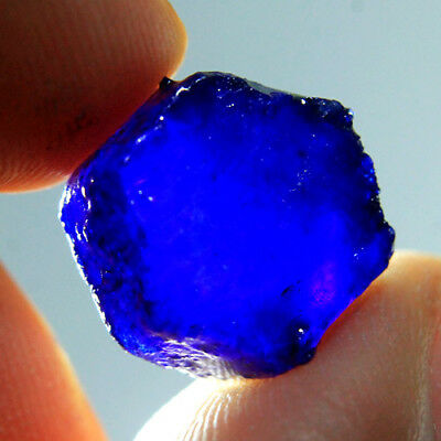 20.05 ct Natural Rich Blue Sapphire Heated Rough Madagascar A20632
