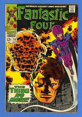 Fantastic Four #78 – Marvel (1968) – The Wizard Appearance – Thing!