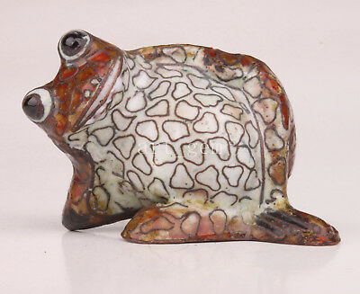 Cloisonne Statue Figurine Frog Handmade Crafts Gift Collectable