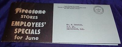BH1030 Vtg Firestone Tires Stores Specials For June Sales Brochure 1950's
