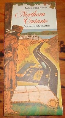 BH1052 Vtg Department Of Highways Northern Ontario ON Road Map 1967 Centennial