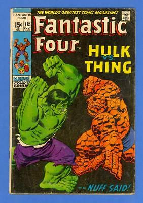 Fantastic Four #112 – Marvel Comics (1971) – Hulk Vs. Thing!