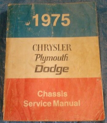 BH336 1975 75 Chrysler Plymouth Dodge Chassis Service Manual