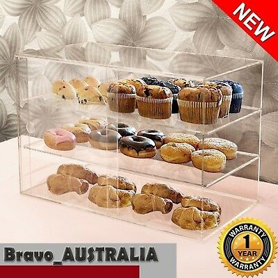 Acrylic Cake Display Cabinet Cookies Large Muffin Cupcake Slice Donut Pastries