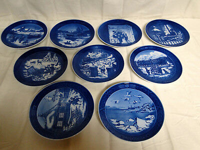 Lot of 9 ROYAL COPENHAGEN CHRISTMAS PLATES ANNUAL 1998 - 2006 Awesome