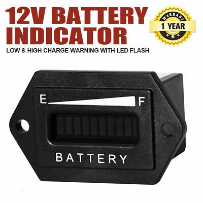 Battery Indicator 12V Monitor Status Charge LED Digital Meter Gauge Condition