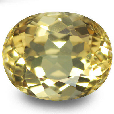3.23 Ct Excellent!! Luster Top Rich Fire Natural Yellow Beryl