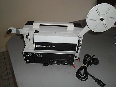 EUMIG MARK S 802 SOUND SUPER  & SINGLE  8mm PROJECTOR.  -  SERVICED