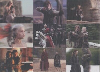 Game Of Thrones Valyrian Steel Trading Cards 3-D Lenticular Set Of 18 Cards! NEW