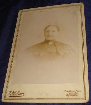 BR616 Vtg Peterboro ON Cabinet Card Photo by P H Green Unidentified Older Woman
