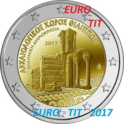 2 €  Grece  2017   5  X  Piece  Commemorative Site Filipos  2017 /  2017 Nouveau