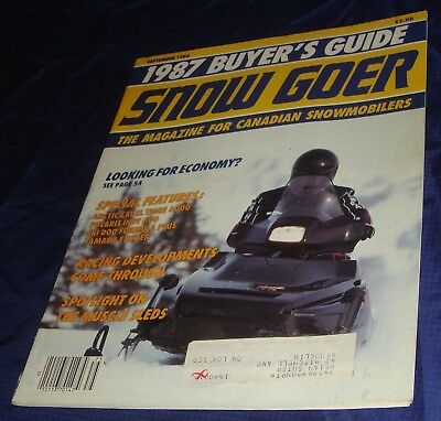 BS320 Vtg Snow Goer SnowGoer Snowmobile Magazine Sep 1986 1987 Buyers Guide