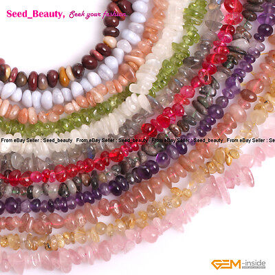 "4-6x7-10mm Natural Freeform Chips Beads for Jewelry Making 15"" Wholesale Beads"