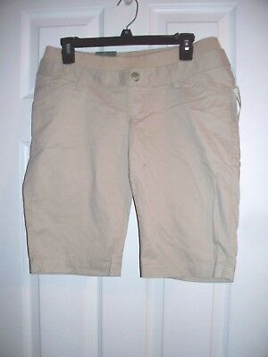 Nwt Old Navy Maternity Shorts Khaki Size 1 Double Waist Stretch