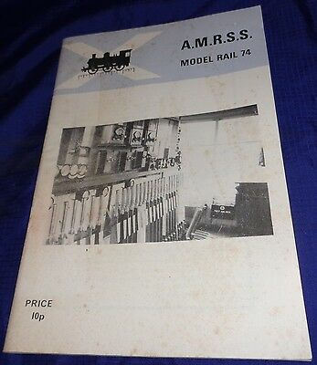 DE033 Vtg A. M. R. S. S. Model Rail 74 Program Booklet Railway Trains