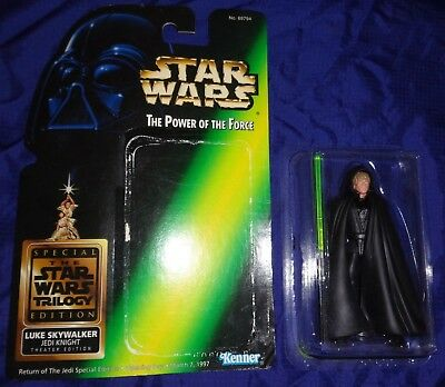 EJ091 Kenner Star Wars Trilogy Luke Skywalker Jedi Knight Theater Edition 97 NEW