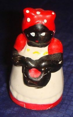 GL045 Vtg Black African American Aunt Jemima Mammy China Thimble Figurine