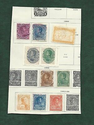 Latin America collection of old mainly used stamps on 12 pages Venezuela etc