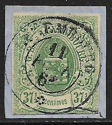 LUXEMBOURG 1859 Imperf 37½c Green SG 14 Used (Cat £325)