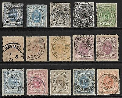 LUXEMBOURG 1859-75 Imperf/Rouletted Selection Used