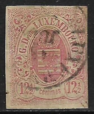 LUXEMBOURG 1859 Imperf 12½c Rose SG 11 Used (Cat £250)
