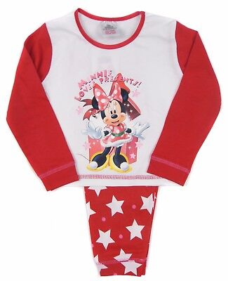 Girls Minnie Mouse Christmas Pyjamas 18-24m 2-3y  and 3-4y Great Gift
