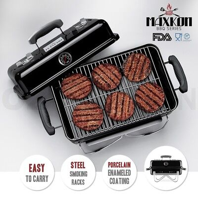Maxkon Mini BBQ Outdoor Camping Portable Charcoal Grill with Folding Legs