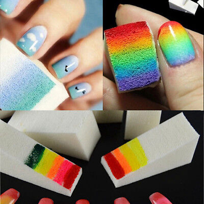 20pcs Nail Decoration Tools Nail Art Manicure Polish Gel Gradient Stamp Sponges