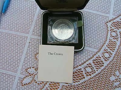 1972  Sterling Silver  Proof  British  'silver Wedding'  Commemorative  Crown.1